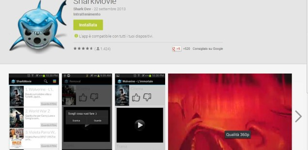 Film in streaming gratis su Android grazie a SharkMovie